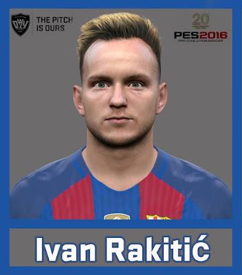 PES 2016 Ivan Rakitić Face by Ozy_96 PESMOD