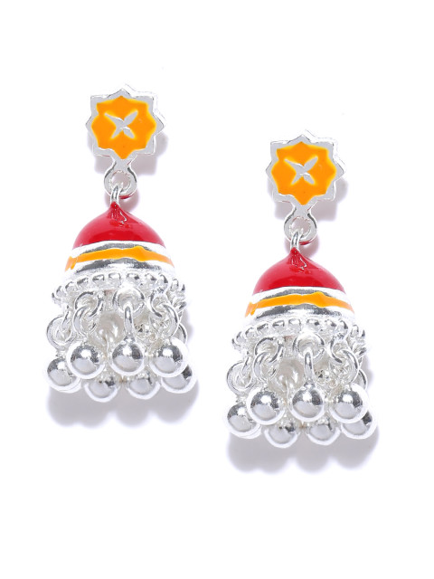 AhilyaJewels.com - RED ORANGE TINY JHUMKI