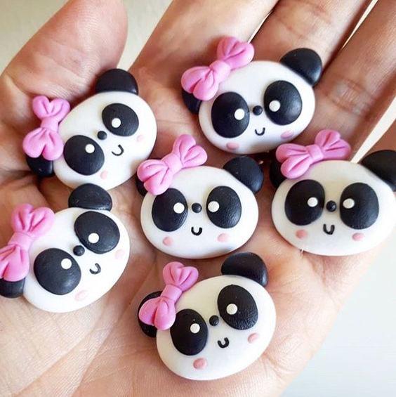 mainan clay panda