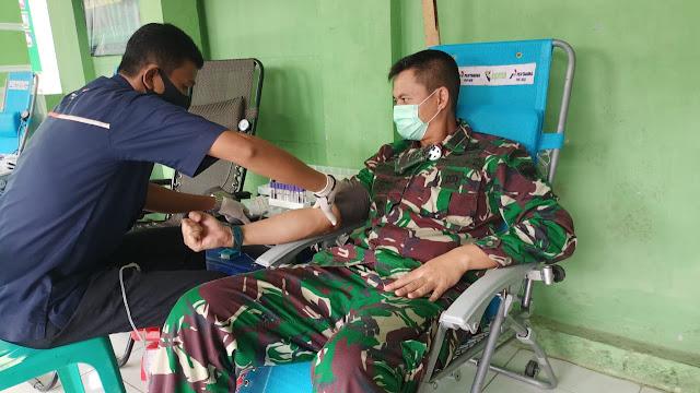 Dimasa Pandemi Covid 19 Dandim 0103/Aceh Utara Laksanakan Donor Darah
