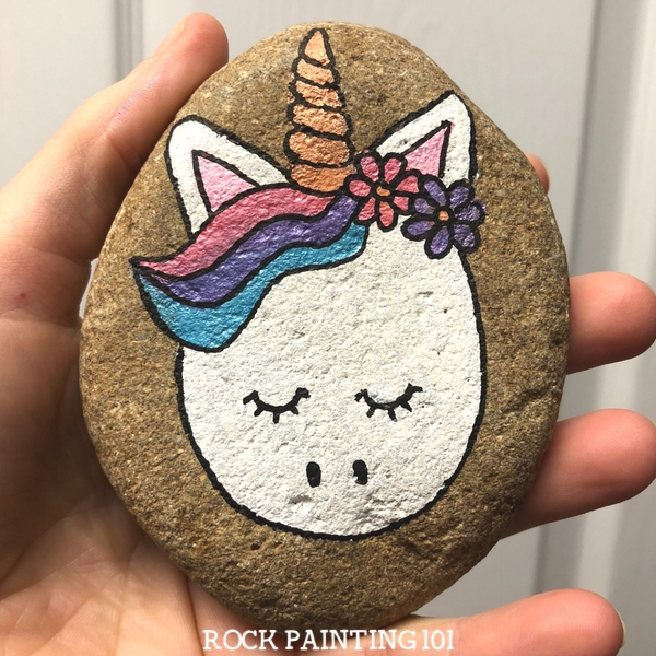 unicorn rock painting ideas