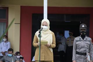 "Bupati Luwu Utara Pimpin Apel Gelar Pasukan, ""Ops Ketupat 2021"" di Polres Luwu Utara"