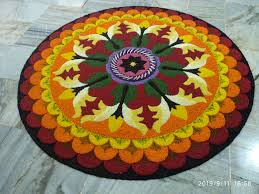 fresh flowers rangoli designs