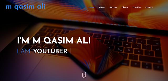 M Qasim Ali Portfolio-https://portfolio.mqasimali.com/