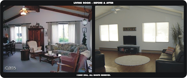 ©2009 Zoll - main living room before and after