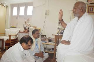 श्री मोहनखेड़ा महातीर्थ में केन्द्रीय राज्य मंत्री फग्गनसिंग कुलस्ते का आगमन हुआ