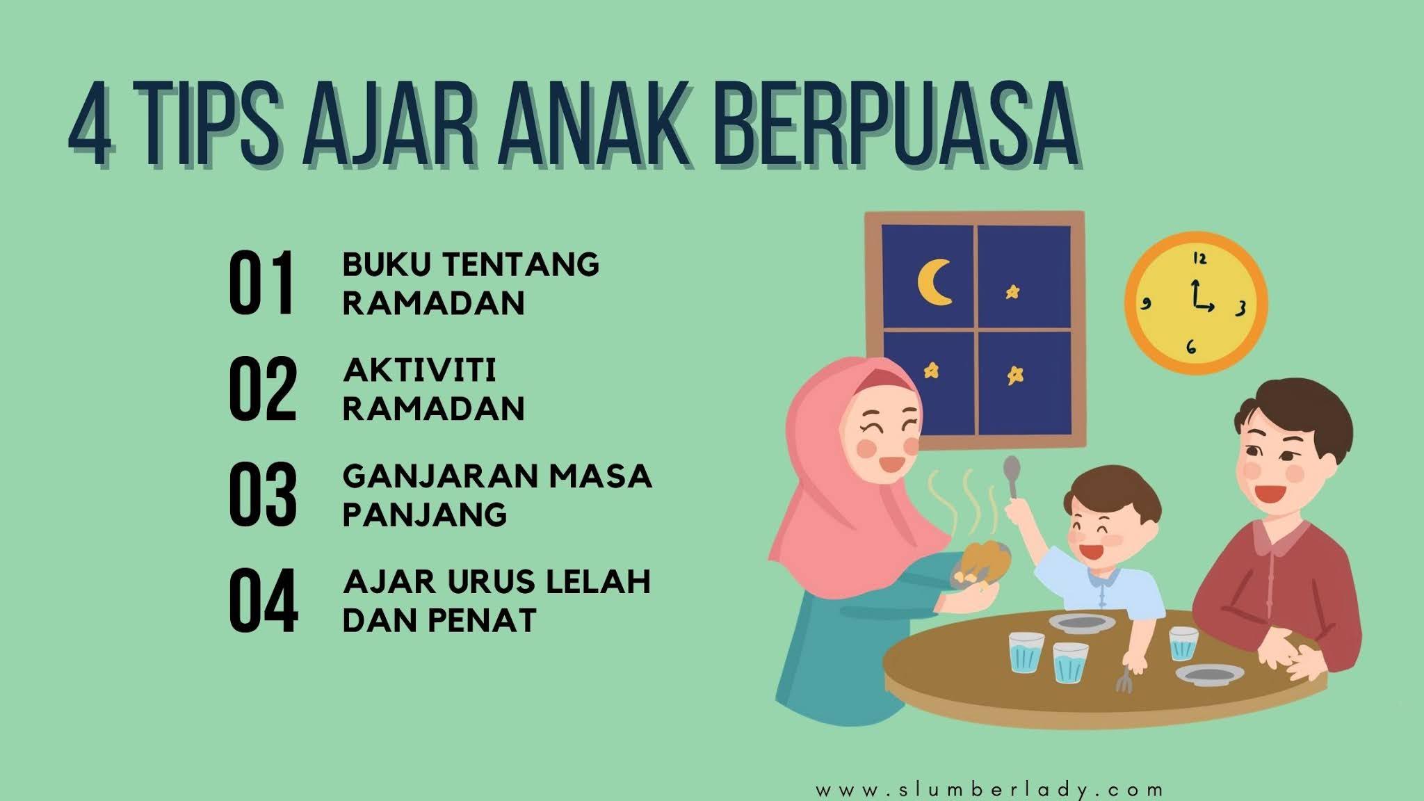 ajar anak puasa bulan ramadan