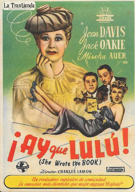 ¡Ay que Lulú! - Programa de Cine - Joan Davis - Jack Oakie