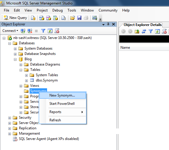 Sql Synonym For Stored Procedure