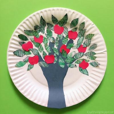 Handprint Apple Tree Craft by The Joy of Sharing