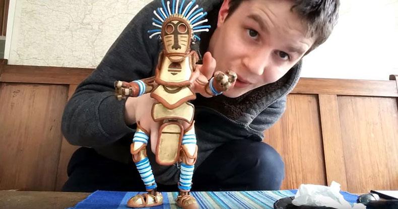 Ingeniosa marioneta de mano capaz de señalar, Agarrar, y Hablar