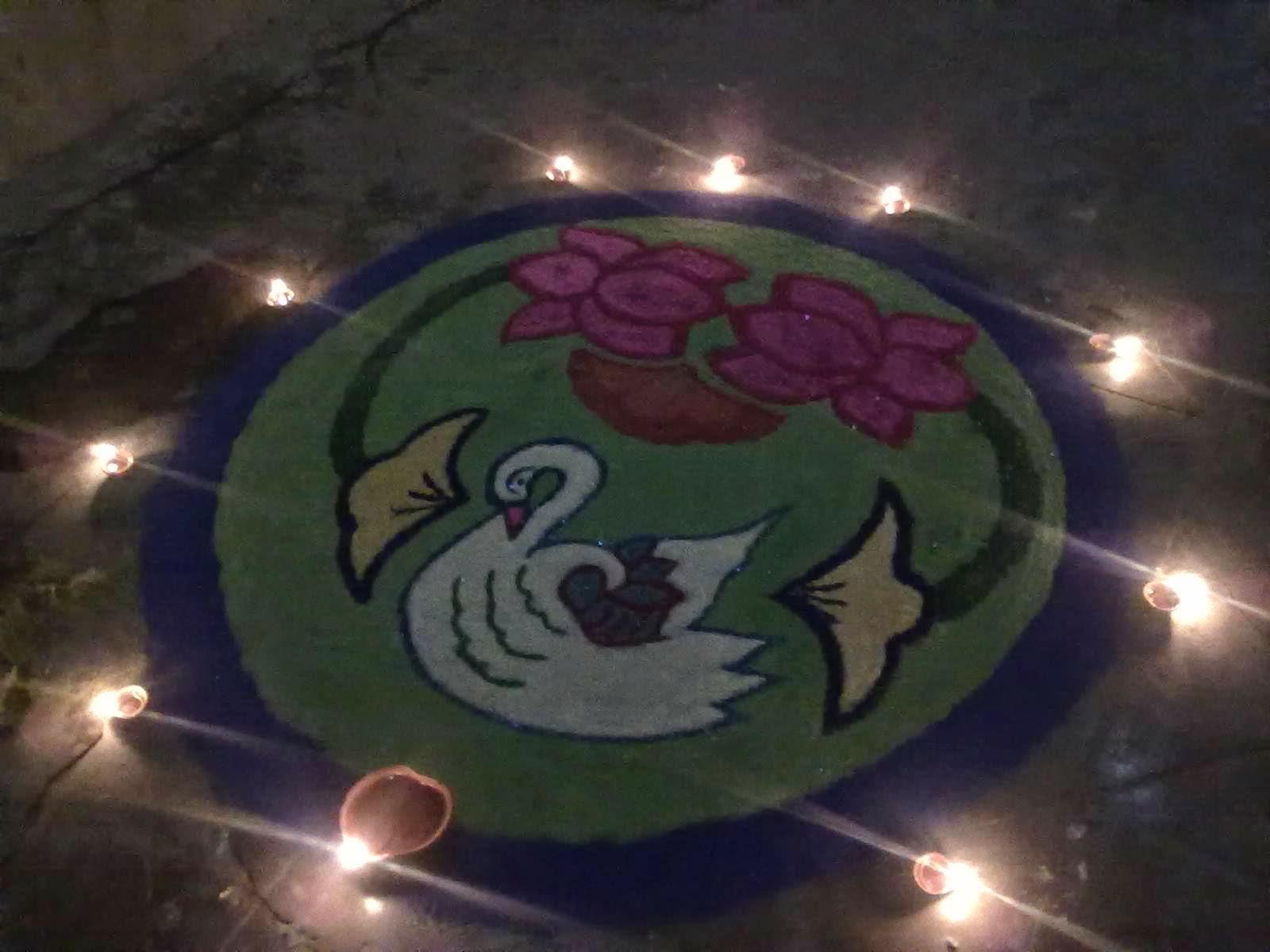 Kolam for Diwali 7