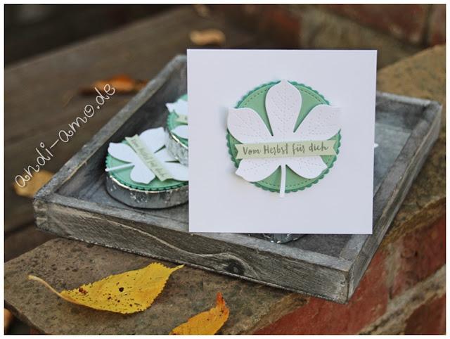 Herbstliche Karte Stampin Up Bestickte Blätter