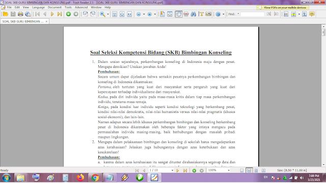 Contoh soal tes P3K/PPPK guru bimbingan dan konseling dan kunci jawaban