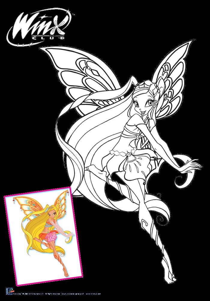 odlotowe winx kolorowanki enchantix
