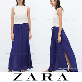 Crown Princess Style ZARA Long Skirt and ZARA Lace Blouse