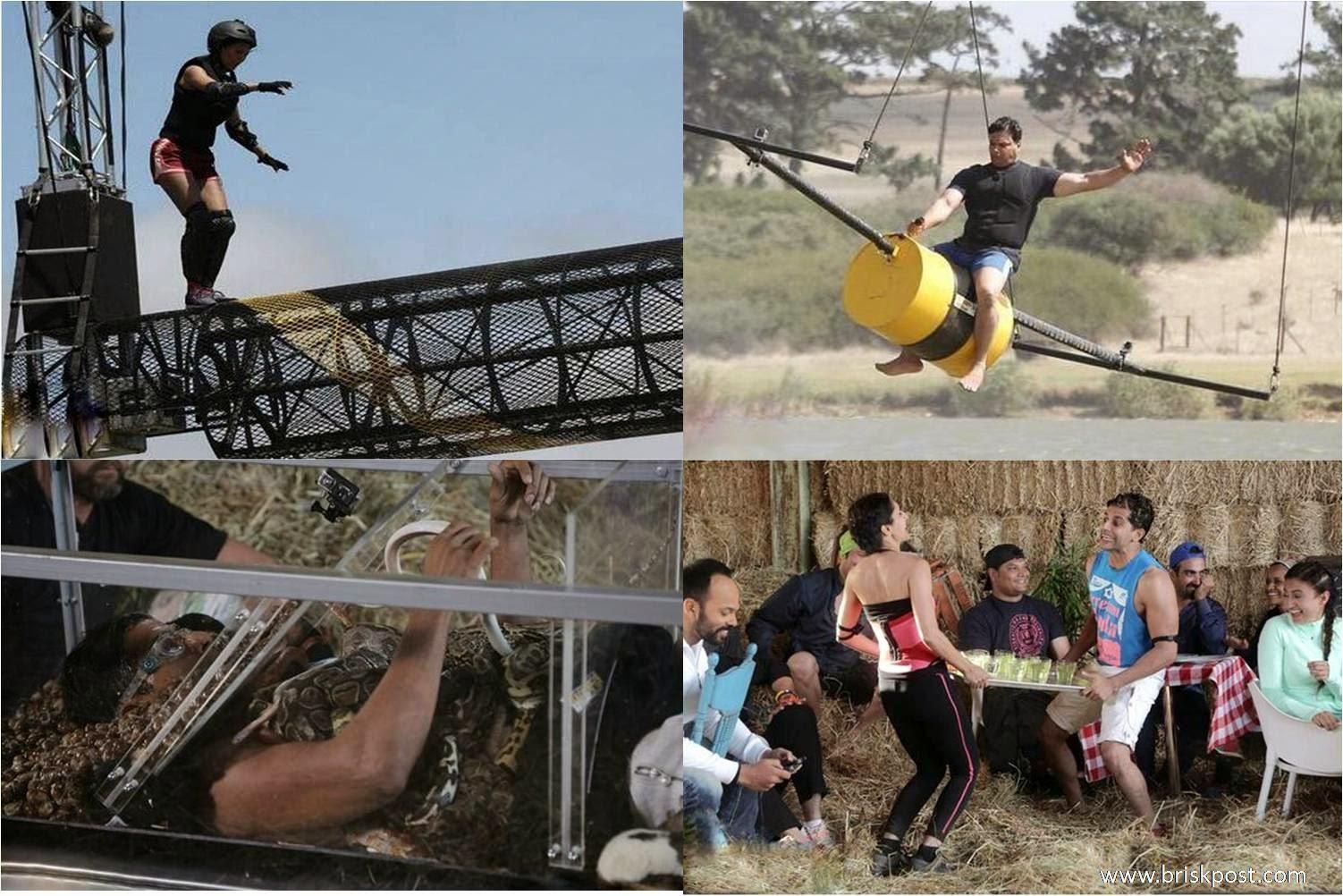 Golmal Bull Ride stunt of Khatron Ke Khiladi on height at Roller and Rotter; Rochelle Eliminated
