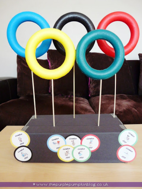 #Olympic Ring Decoration at The Purple Pumpkin Blog