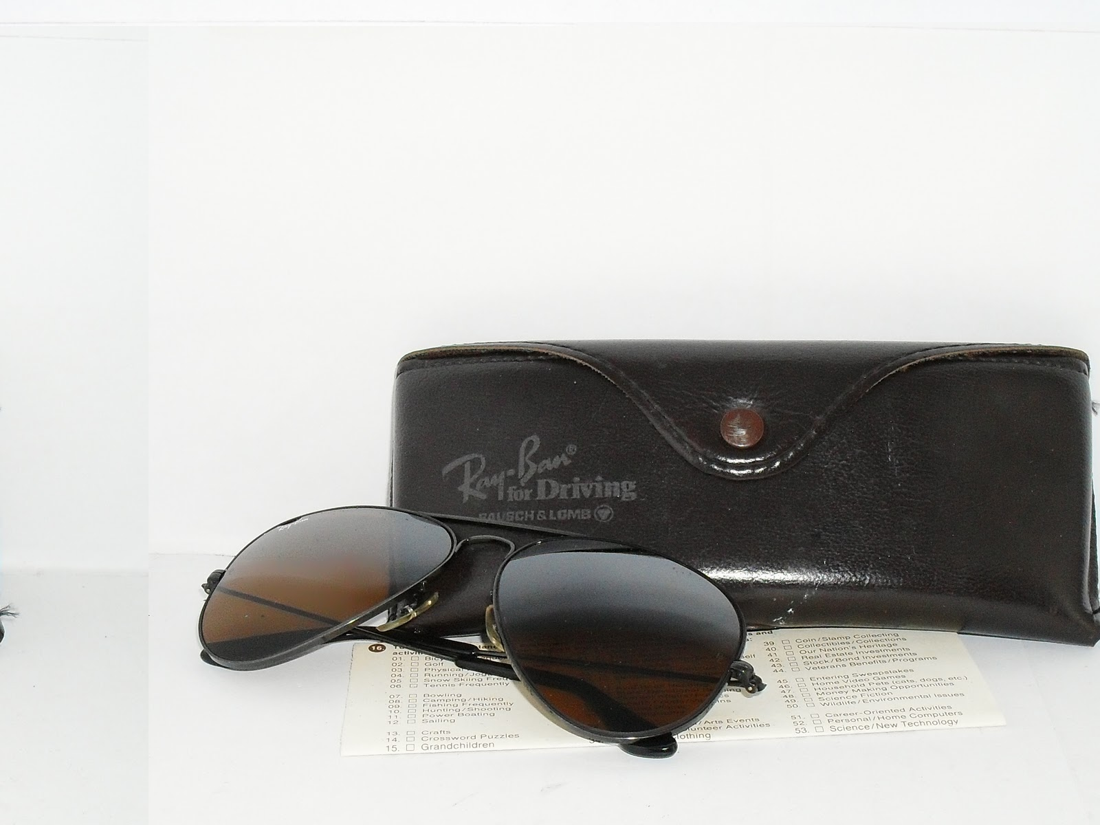 SOLD ~ VINTAGE RAYBAN AVIATOR BLACK CHROME B-15 LENS USA. RAY BAN ... defb2dbe26