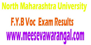 North Maharashtra University F.Y.B Voc (Beauty Therapy) 2016 Exam Results