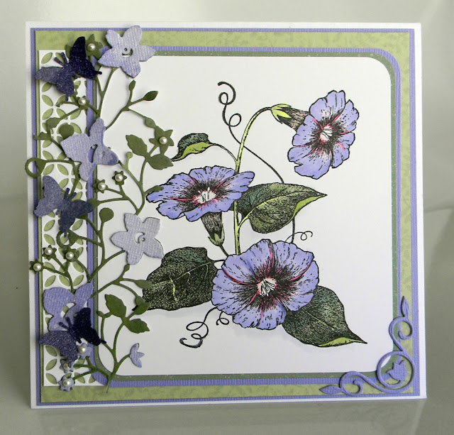 Morning glory birthday card