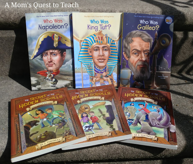 photo of Books: Who Was Napoleon? Who Was King Tut? Who Was Galileo? The Secret of the Hidden Scrolls series