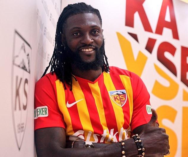 Emmanuel Adebayor joins Turkish minnows Kayserispor on a one-year deal