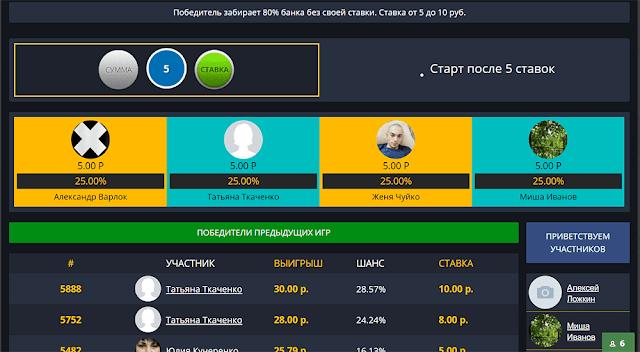 моментальная лотерея онлайн с выводом денег