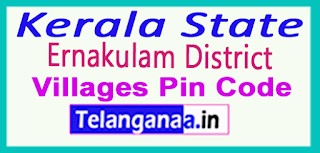 Ernakulam District Pin Codes in Kerala State