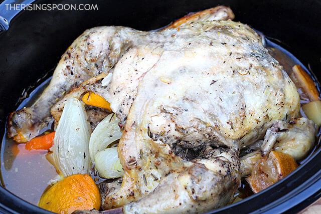 Slow Cooker Lemon Pepper Chicken & Potatoes