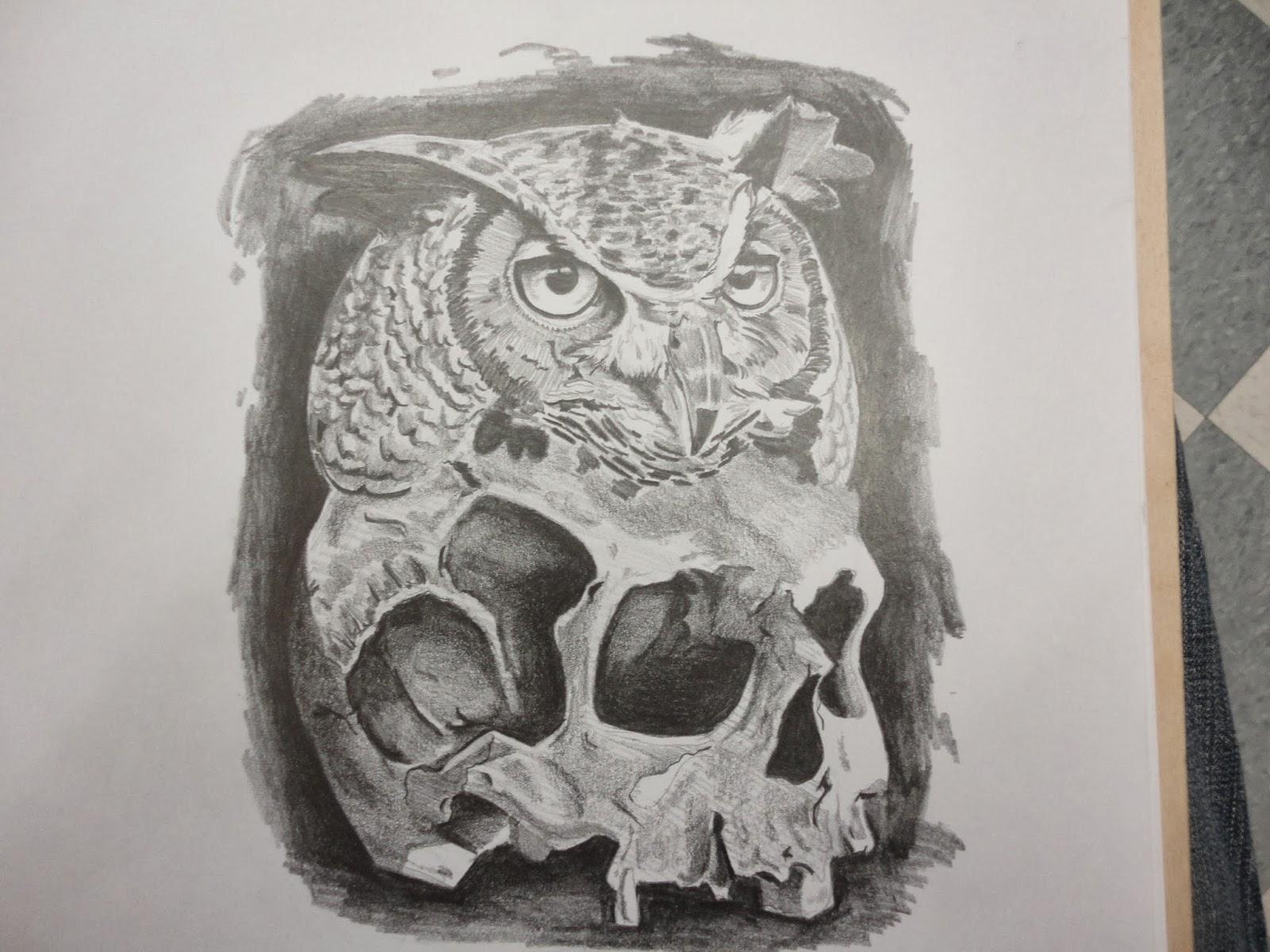 Pin Owl And Skull On Books Tattoo on Pinterest - photo#29
