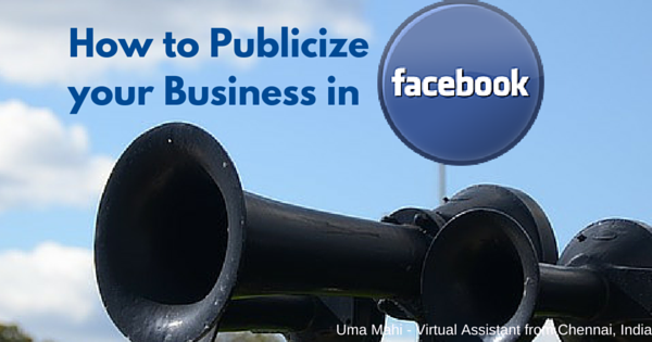 How to publicize your business on Facebook