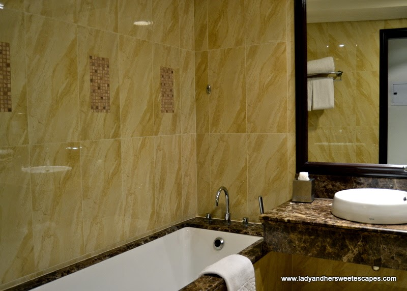 spacious bathroom at The Ajman Palace