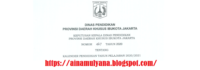 Kalender Pendidikan DKI Jakarta Tahun Pelajaran 2020/2021