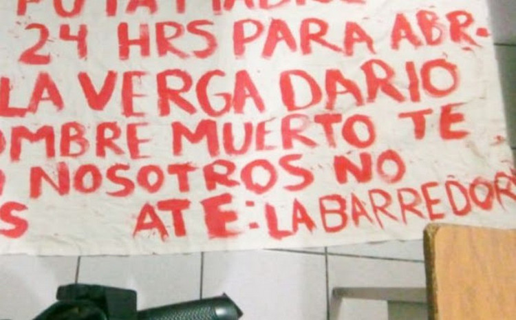 """""""Te lo advertimos hijo de tu p..ta madre"""", Sicarios de """"La Barredora"""" amenaza a Policía de Cancún."""