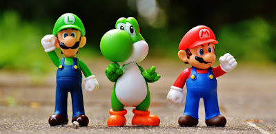 Cute Mario toys image for WhatsApp DP.