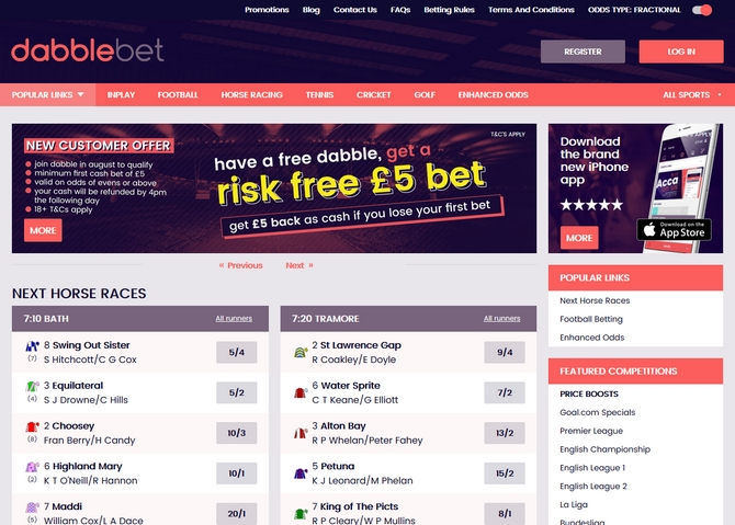Dabblebet Screen
