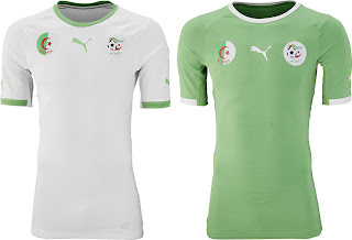 b6f0e34407c Algeria 2014 World Cup Kits released - The new Algeria 2014 World Cup  Jerseys are again made by Puma, who are the shirt supplier of 4 African  teams who ...