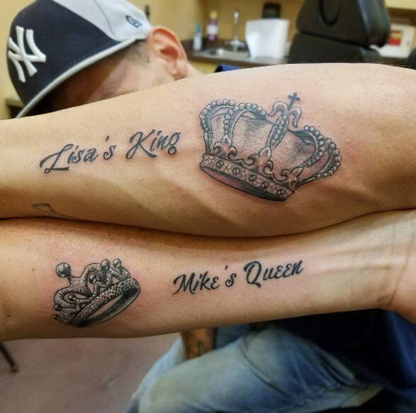 165+ Top King And Queen Tattoos For Couples {2018