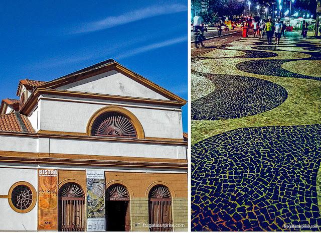 Rio de Janeiro: Casa França Brasil, na Candelária, e o Calçadão da Avenida Atlântica, em Copacabana