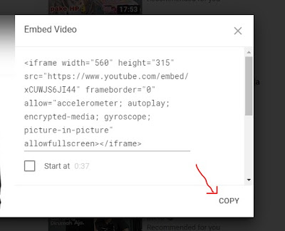 share video youtube