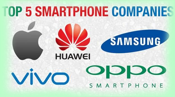 The five largest smartphone companies in the world