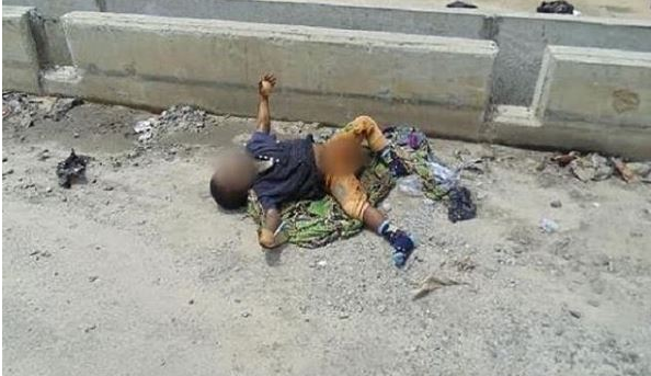 mutilated body of a child under 3 years left for abuja with his