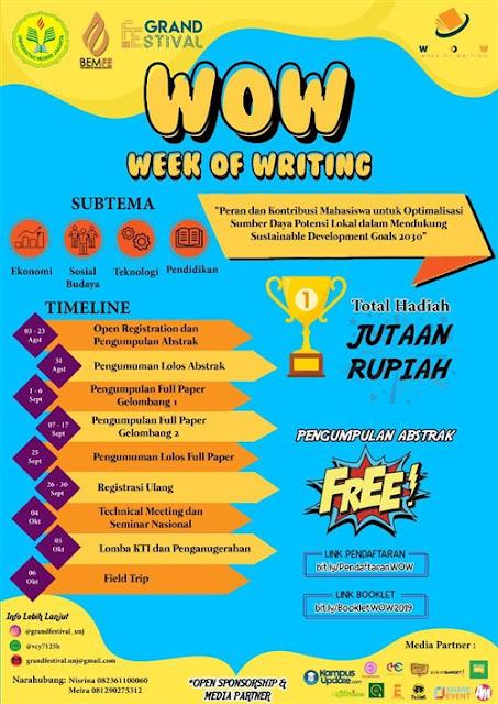 LKTI WOW (Week of Writing) UNJ