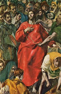 Postal de Museo del Prado, El Expolio, El Greco. Editorial Alpe.