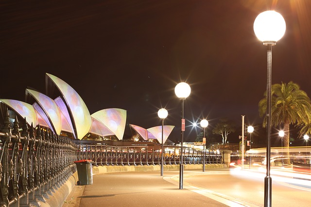The Rocks as seen at night