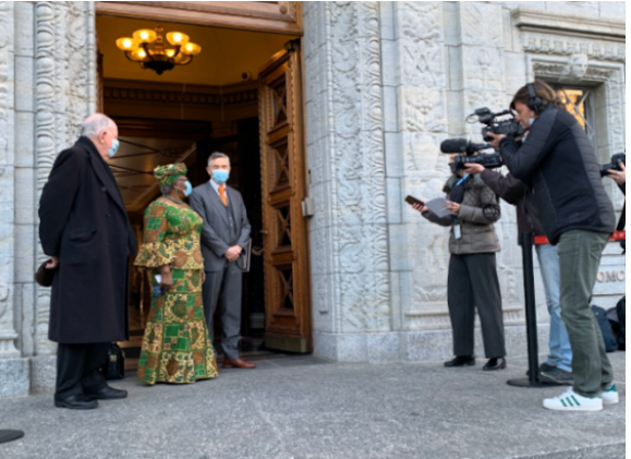 Pictures of Ngozi Okonjo-Iweala 1st day as WTO Director-General