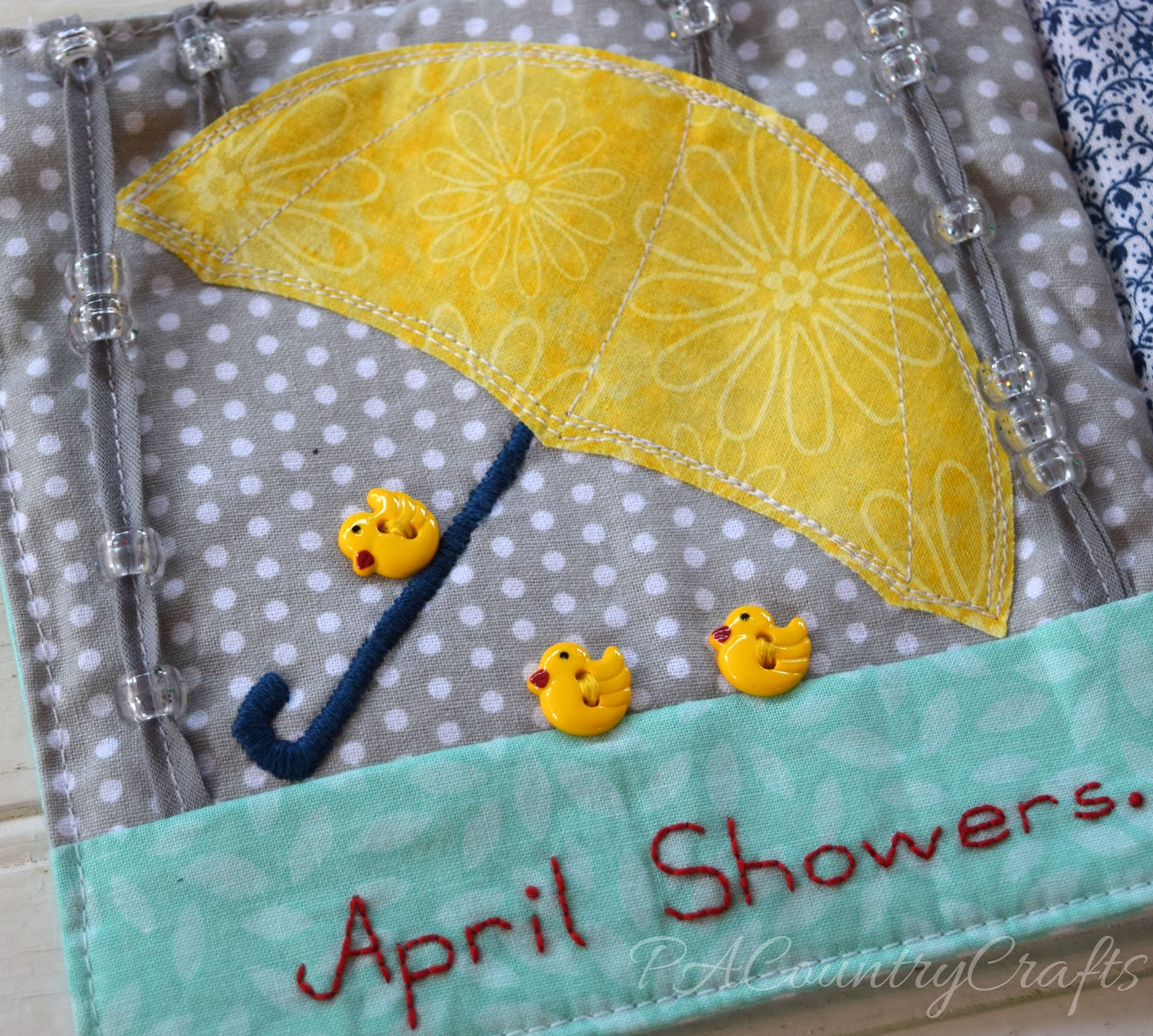 Umbrella And Flowers Quiet Book Pages Pa Country Crafts