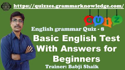 Basic English Test With Answers