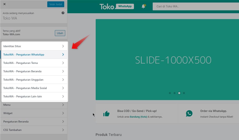 Toko Whatsapp WordPress Theme